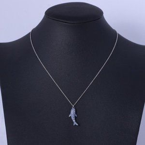 Kate Spade Blue Small Shark Necklace